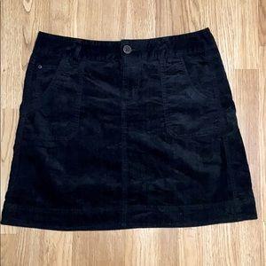 Black Cord Woolrich Mini Skirt